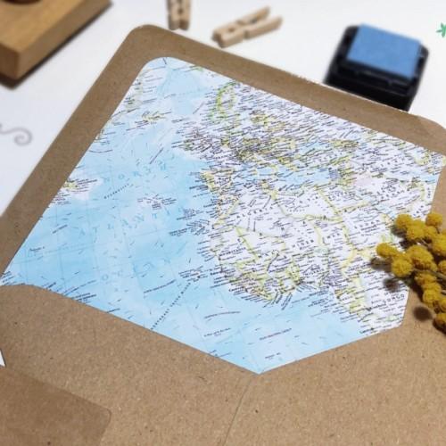 """Sobre forrado """"Mapa color"""""""