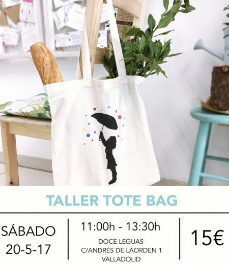 taller tote bag TEXTO