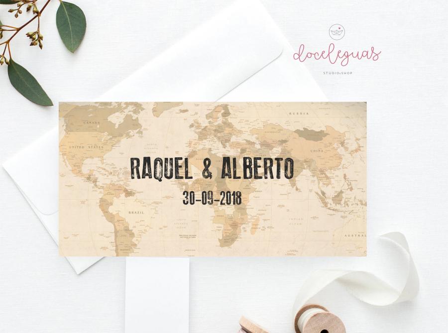 Invitación De Boda Original Y Personalizada Con Mapa