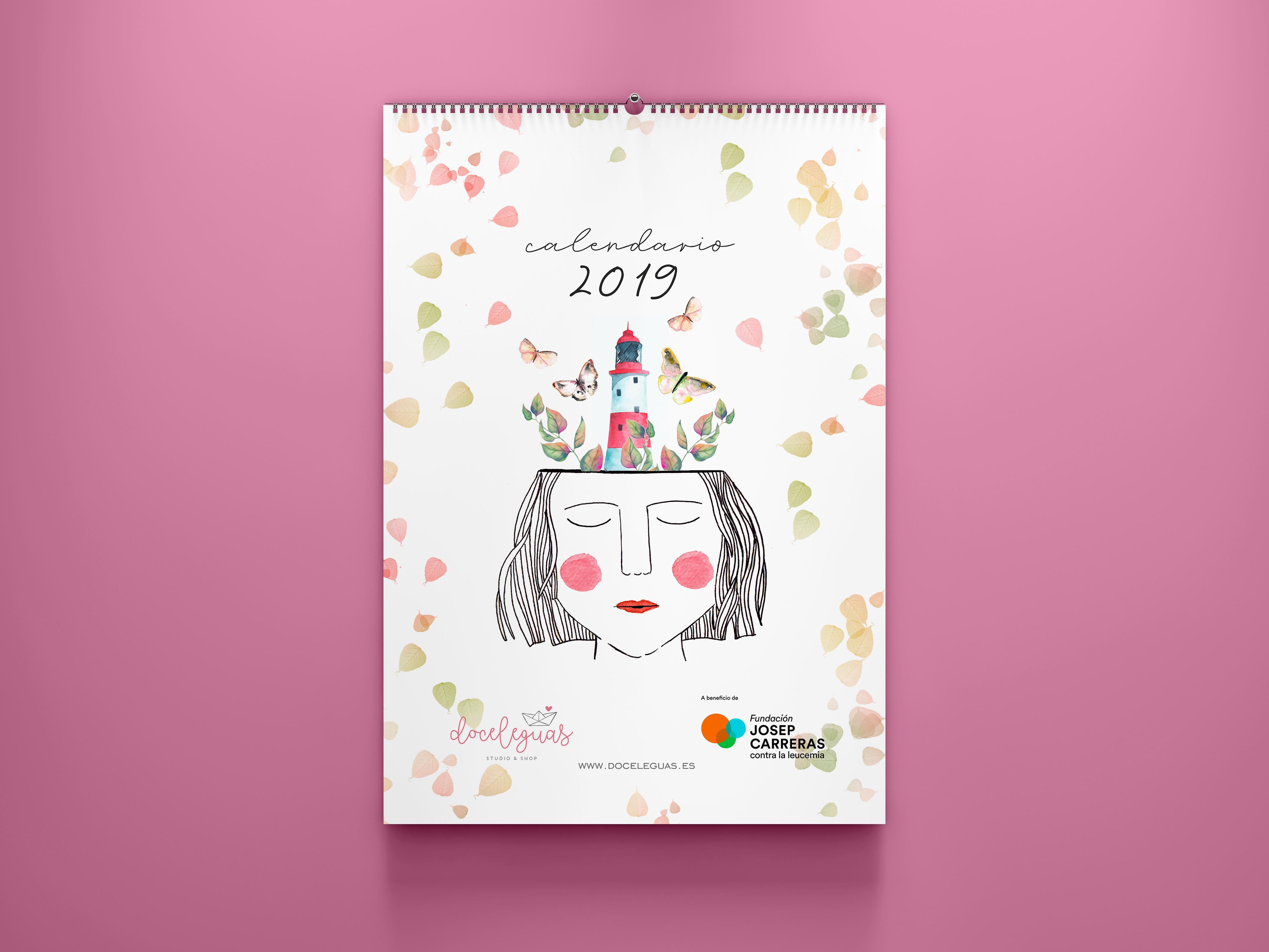 Calendario Rosa Png.Calendario De Pared Solidario 2019